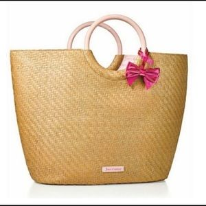 Juicy Couture straw weave beach bag